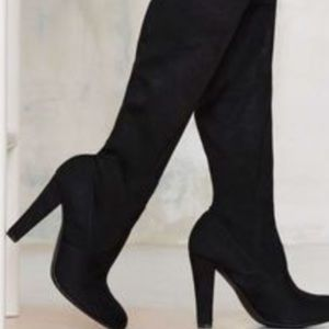 Steve by Steve Madden Suede over the knee boot.